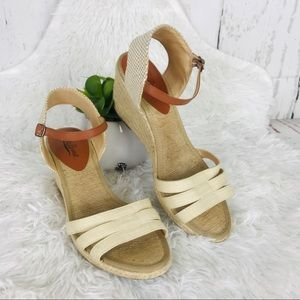 Lucky Brand wedges espadrille woven